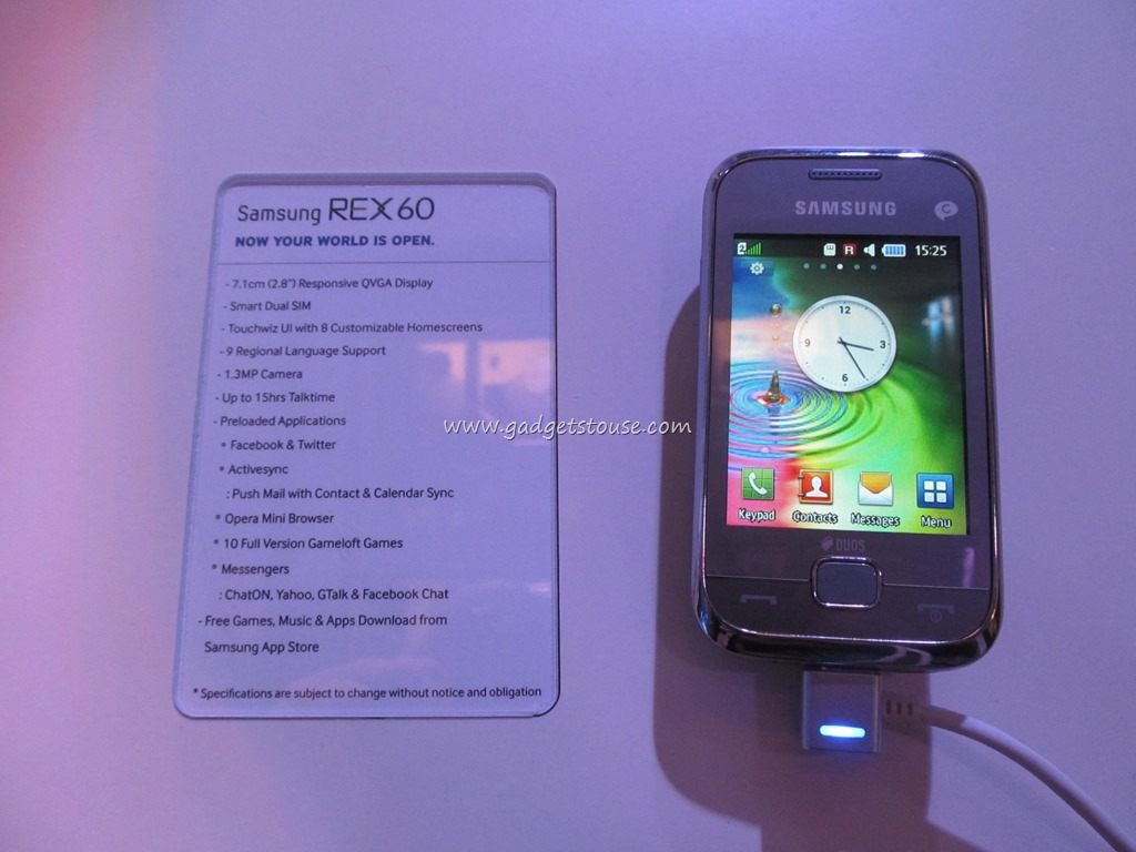 Samsung REX 60 Hands on Pictures and Review - Gadgets To Use