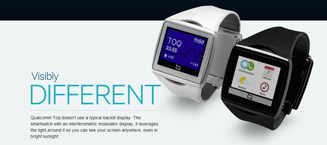 Qualcomm Toq Smartwatch with Wireless charging and Mirasol ...