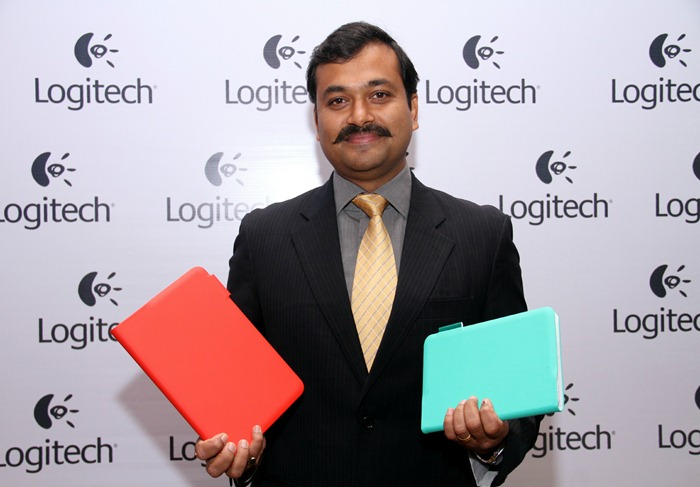 Subrotah Biswas, Country Director, Logitech India & South West Asia unveiling the new range of Logitech Mobility Devices_2