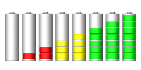Battery levels icons | PSDGraphics