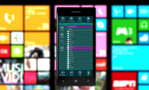 windows phone file manager