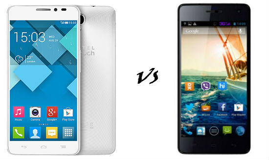 Alcatel One Touch Idol X+ vs micromax canvas knight
