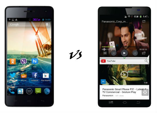 Panasonic P81 VS Micromax Canvas Knight A350