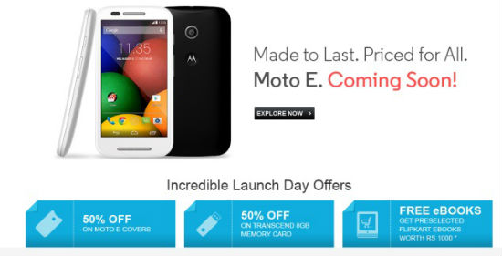 moto e flipkart offer