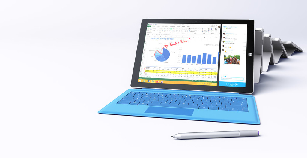 Surface Pro 3 used as an illustration