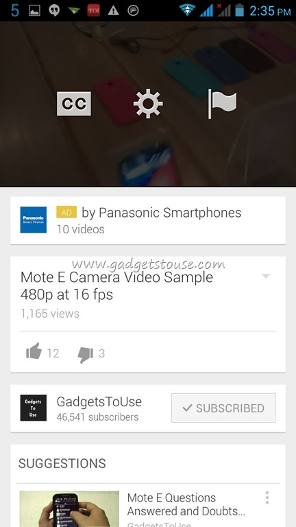 Change Resolution while playing YouTube Videos on Android