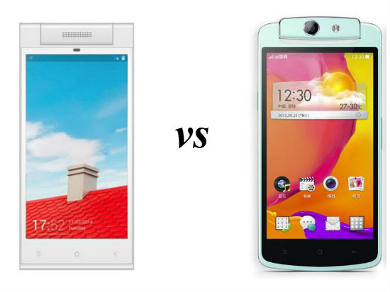 Gionee Elife E7 Mini VS Oppo N1 Mini