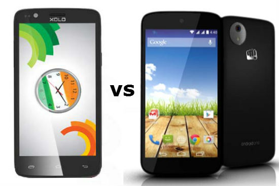 xolo one vs micromax canvas a1