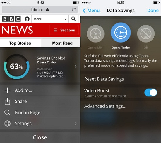 Opera Mini 9 for iOS Update Adds Video Boost to Lower Buffering Time
