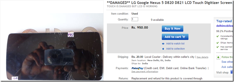 Nexus 5 Digitizer