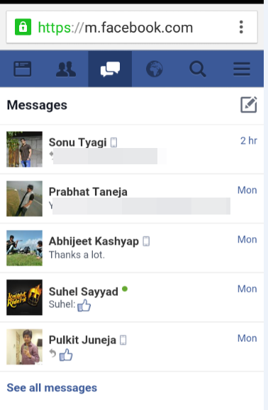 how to delete facebook messages without messenger
