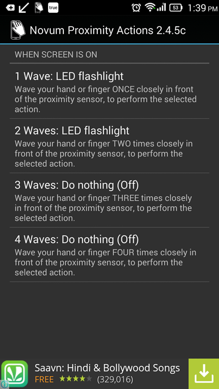 Ways to Silence Calls, Alarms, Turn off Flashlight by Waving