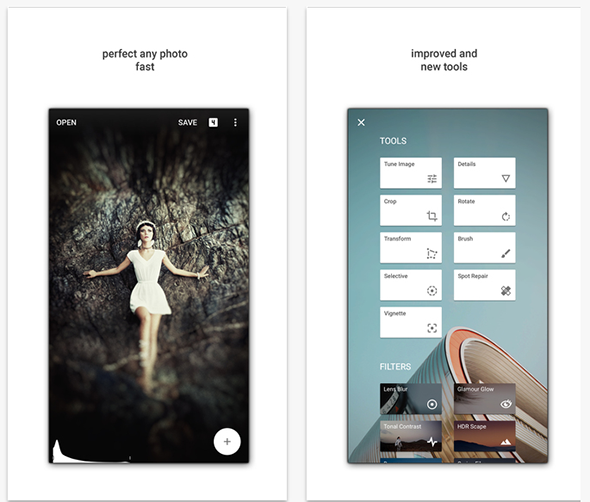 Snapseed is a Photo editing application from Google again. It is a  standalone application that you can install on your iOS, Windows Phone or  Android device ...