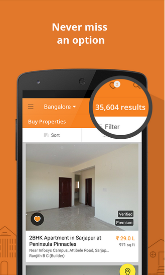 apps to find houses for rent in bangalore