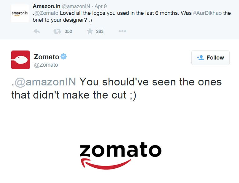 Zomato responds to Amazon
