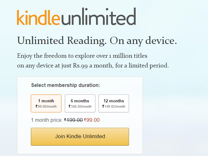 kindle unlimited india
