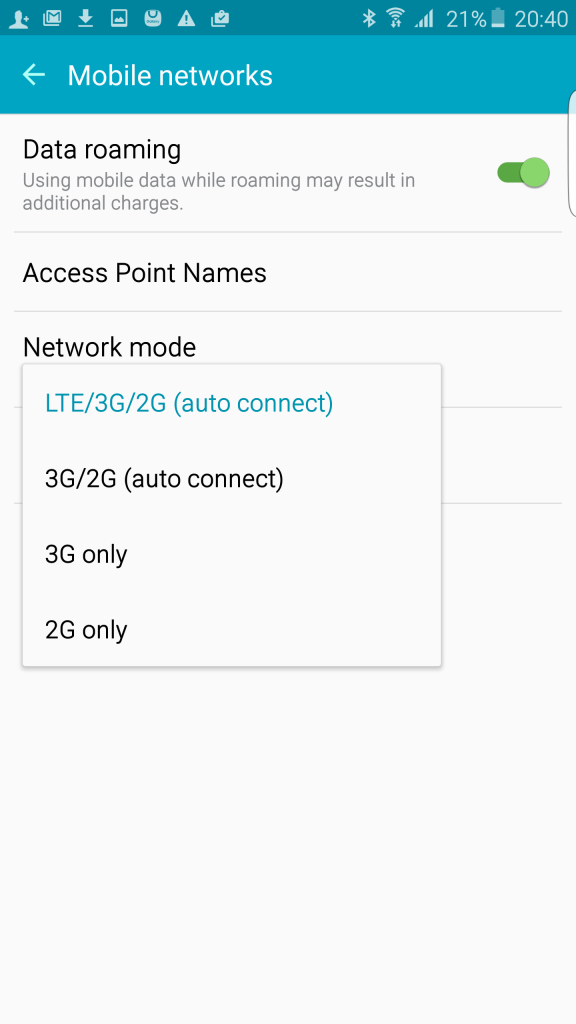 4G Support Check on Android
