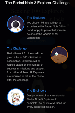 Redmi Note 3 Explorer Challenge