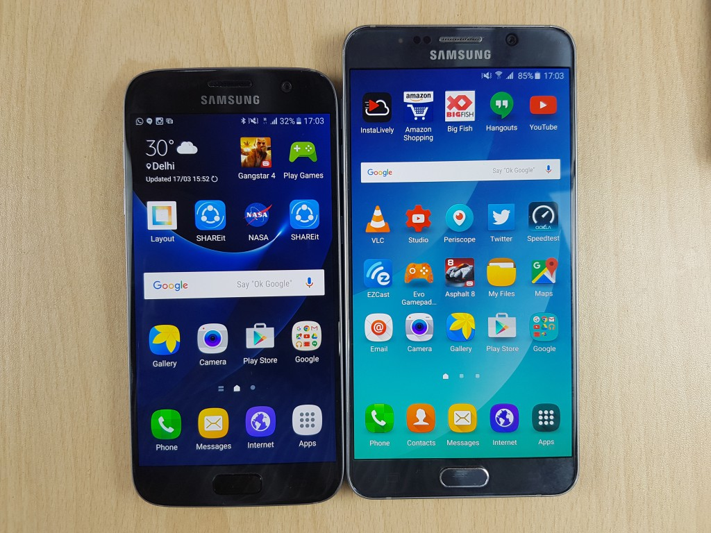 samsung galaxy s7 vs samsung note 5 comparison review   gadgets to use