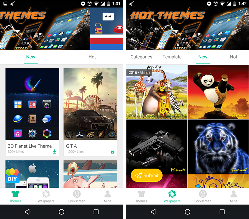Cheetah Mobile 3D Launcher Themes