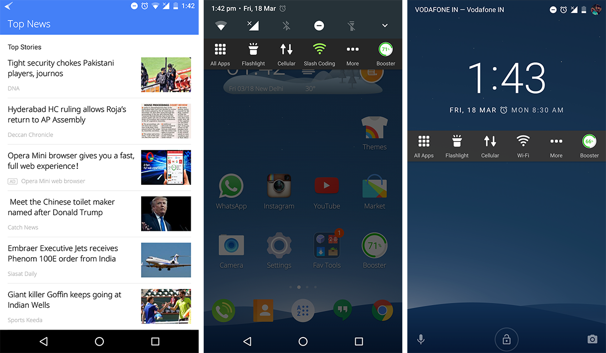Cheetah Mobile 3D Launcher Additional Features