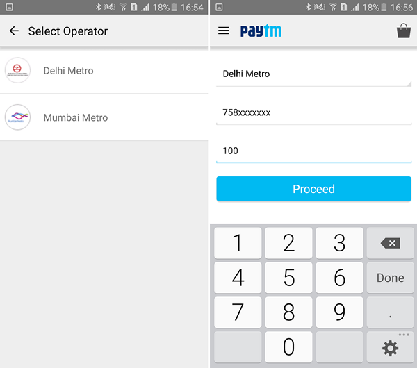 Paytm Metro Card payments