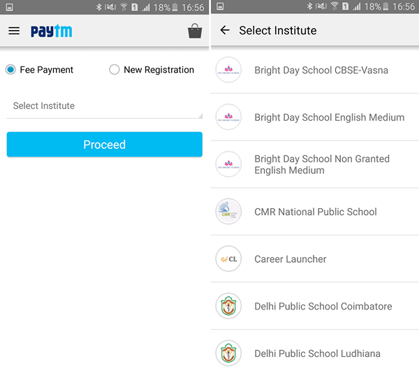 Paytm School and College payments