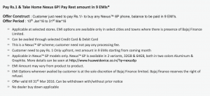 Nexus 6P Offer Terms and Conditions