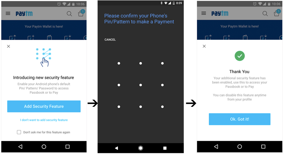 Paytm Wallet Android App Gets a New Security Feature - Gadgets To Use