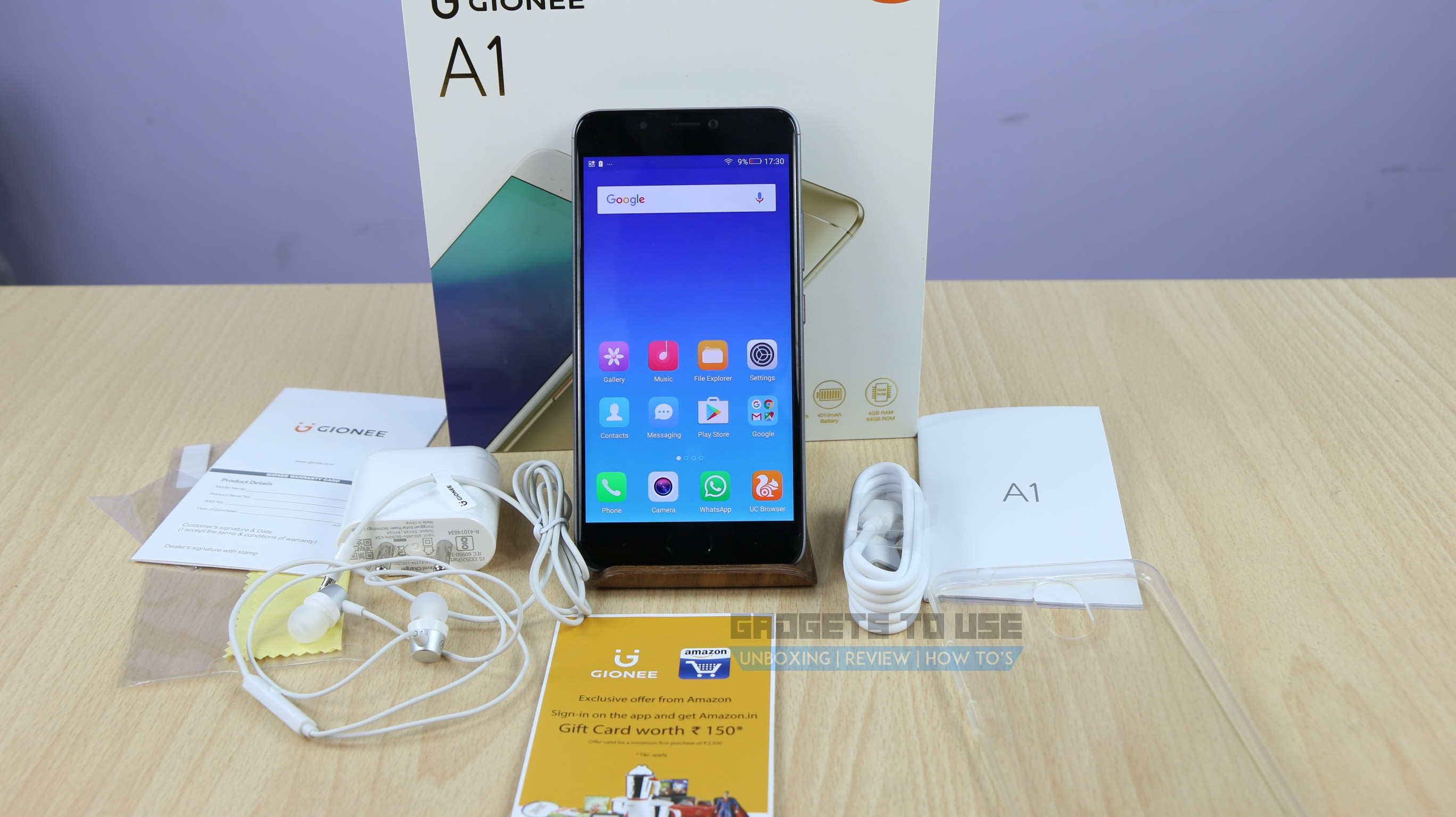 gionee a1 unboxing quick review gaming battery and