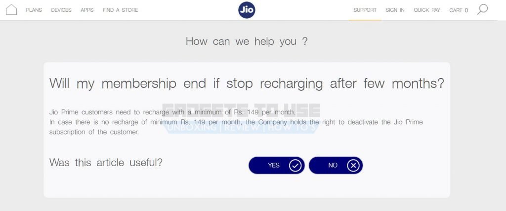 Jio Prime monthly recharge