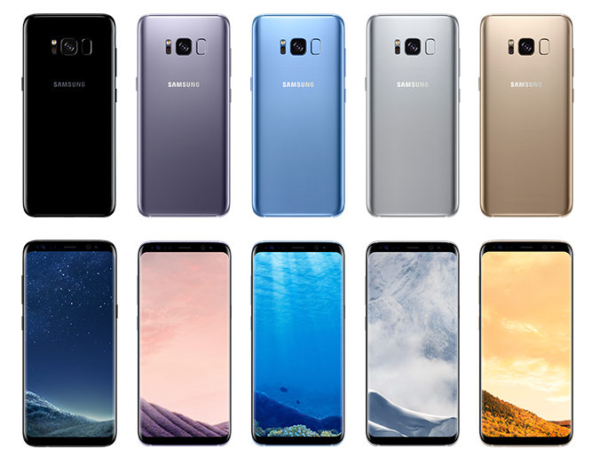 Samsung Galaxy S8, S8 Plus colors