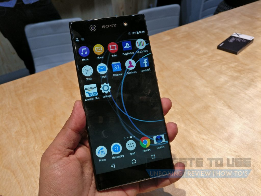sony xperia xa1 ultra hands on overview expected india. Black Bedroom Furniture Sets. Home Design Ideas