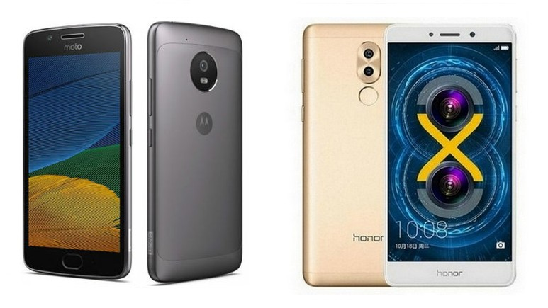 Moto G5 vs Honor 6X