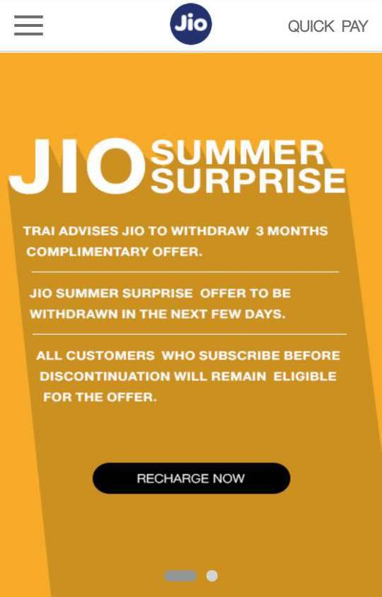Reliance Jio Summer Withdraw tdsat