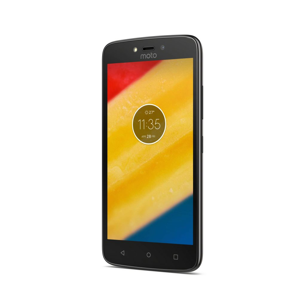 Moto C Plus_Starry Black_Front Angle