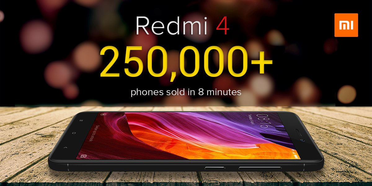 Redmi 4 Sales