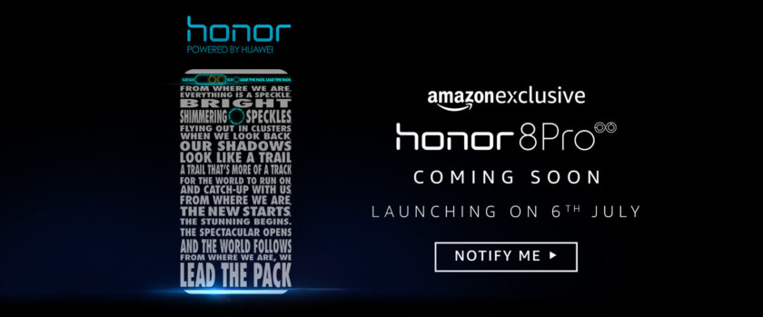 Amazon India Honor 8 Pro