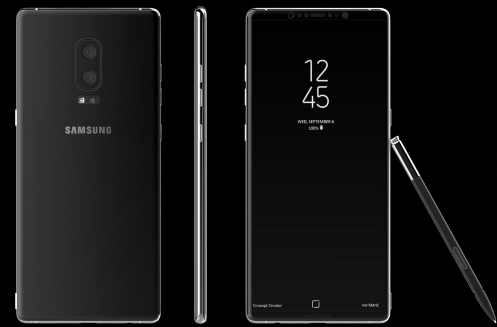 Galaxy Note 8 leak by Concept creator