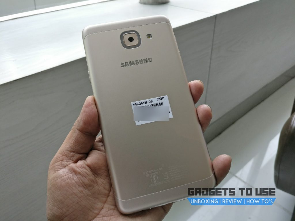 Samsung Galaxy J7 Max back