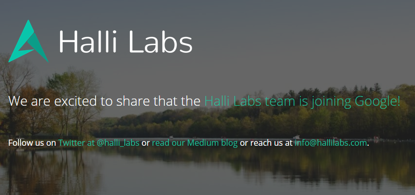 Google acquires Hali Labs