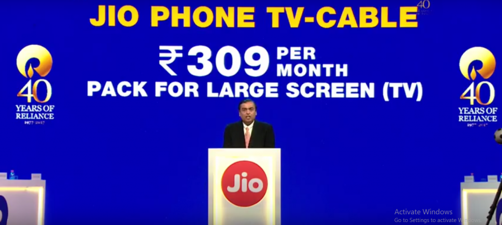 Jio Phone TV-Cable