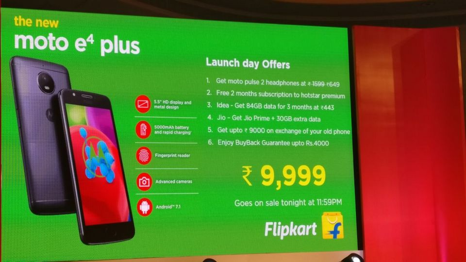 Moto E4 Plus offers