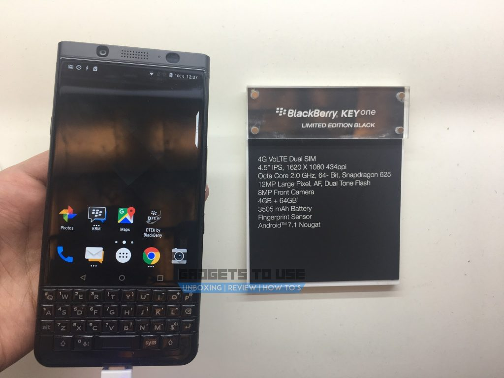 BlackBerry KEYone launch image