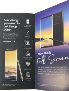 Samsung Galaxy Note 8 leaked Brochure
