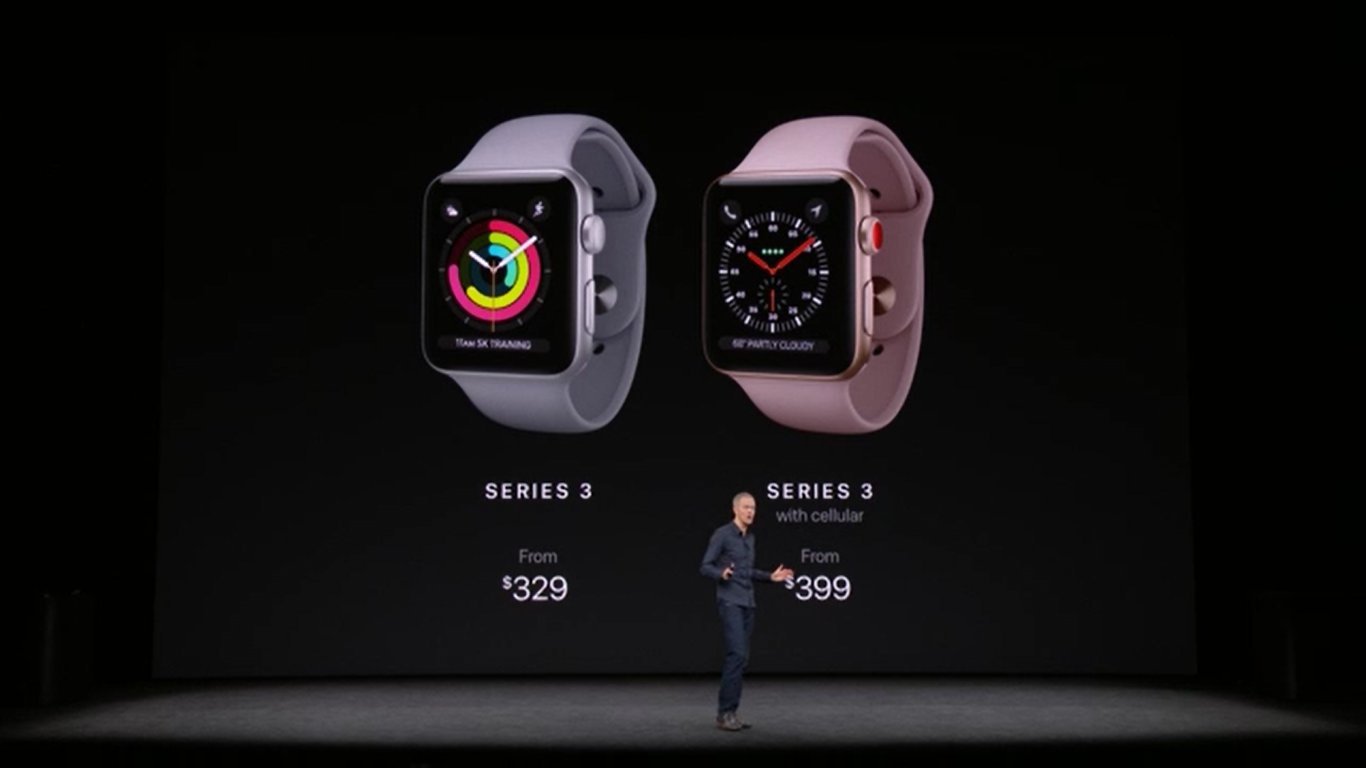 Apple Watch Series 3 with LTE connectivity launched at $399