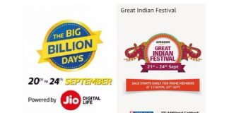 Flipkart BBD Amazon Great Indian Festival
