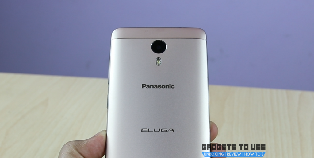 Panasonic Eluga A3 Pro camera and flash