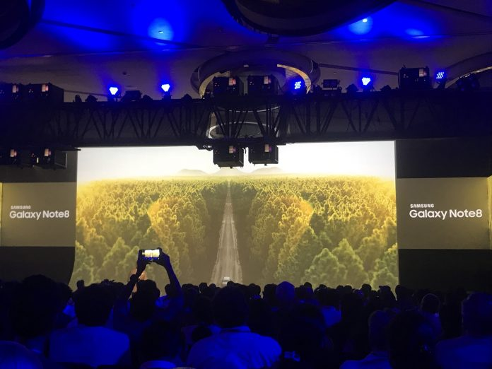 Samsung Galaxy Note 8 India launch image