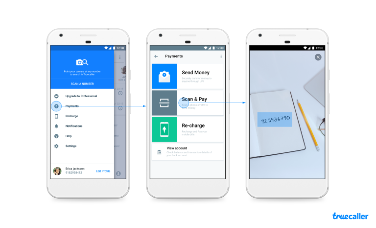 Truecaller Number Scanner